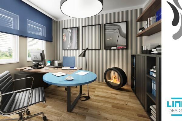 Nová kancelář ve vzorovém domě ve stylu WWW.LINO.CZ